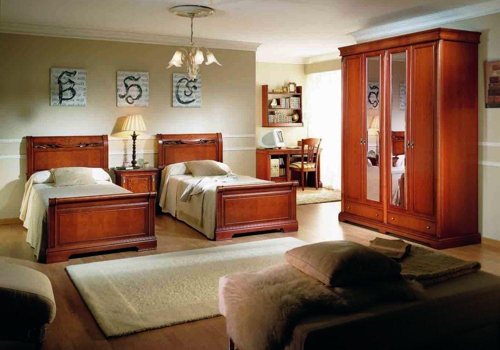 Dormitorio camas individuales - Dormitorios infantiles clasicos ...